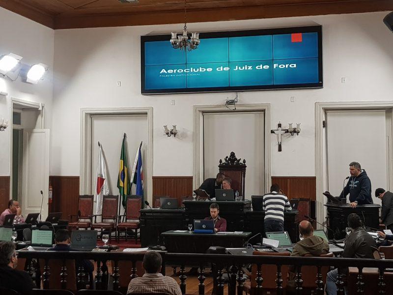 Presidente do Aeroclube participa de Tribuna Livre da Câmara Municipal de Juiz de Fora