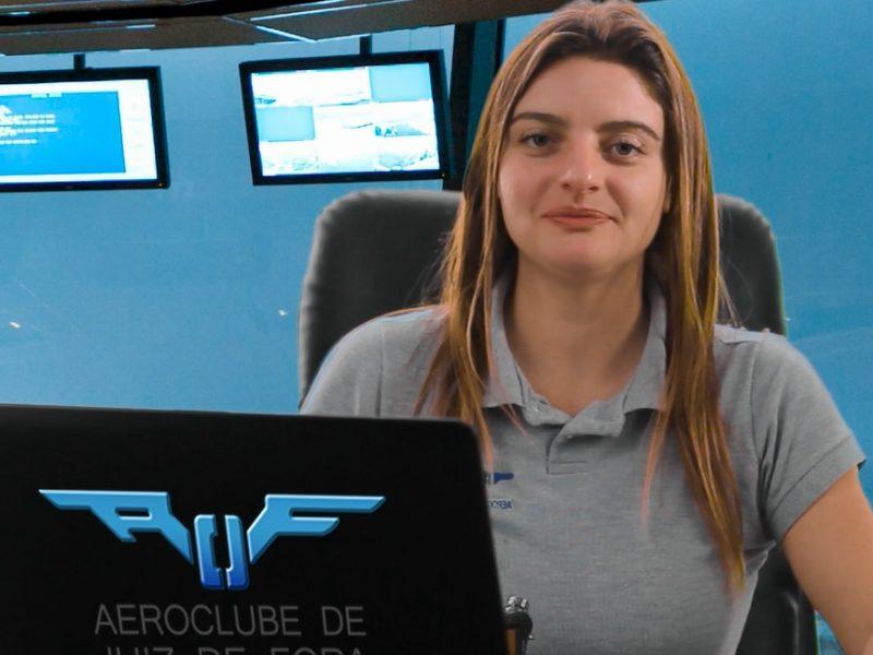 Instrutora de Voo do Aeroclube de Juiz de Fora mostra como cadastrar plano de voo