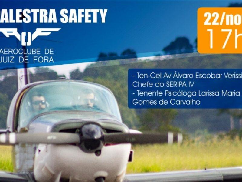 Palestra sobre Segurança na Instrução Aérea é ministrada por representantes da Força Aérea Brasileira no Aeroclube de Juiz de Fora