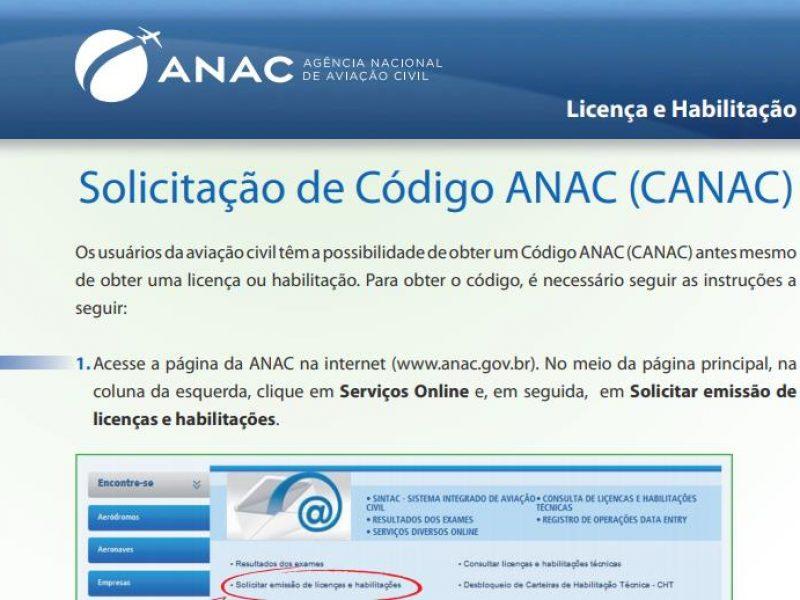 Como gerar seu código CANAC