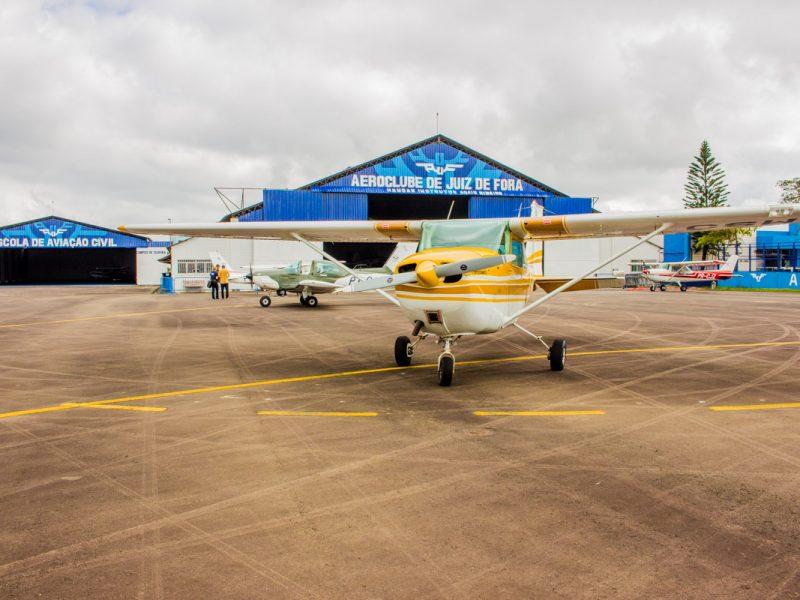 Localização próxima a grandes centros é vantagem do Aeroclube de Juiz de Fora