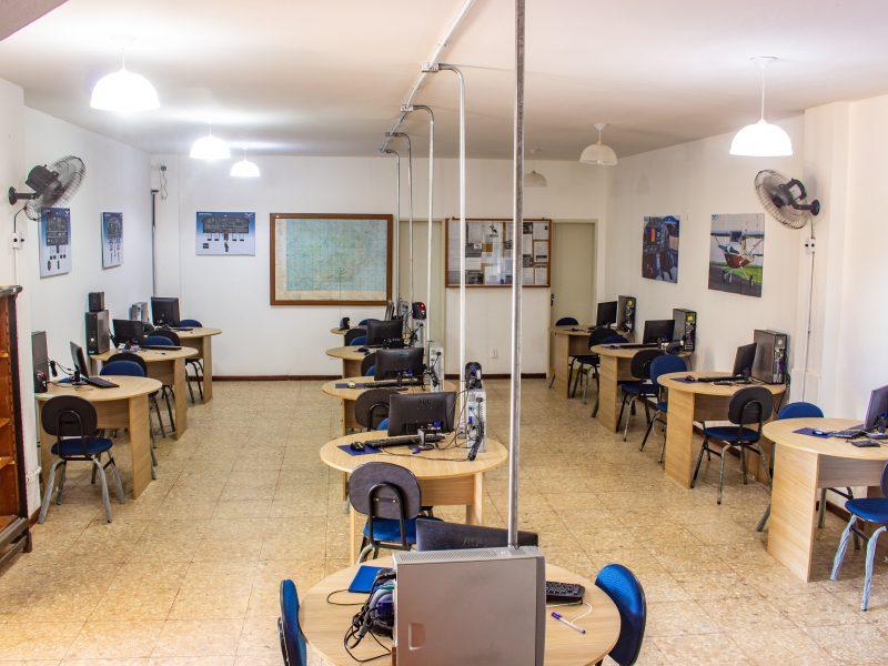 Sala de briefing e estudos
