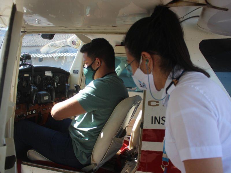 Aluno do Acre realiza voo solo no Aeroclube de Juiz de Fora