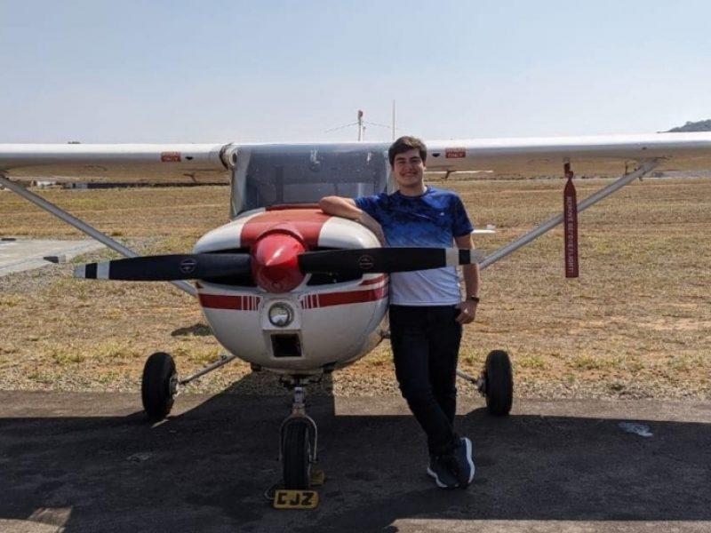 Aluno do Rio de Janeiro conclui seu curso de Piloto Privado no Aeroclube de Juiz de Fora em apenas 3 semanas