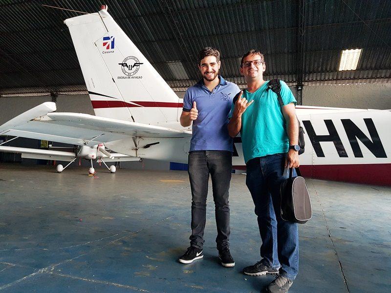 Aluno de São Paulo realiza sonho com a ajuda do Aeroclube de Juiz de Fora