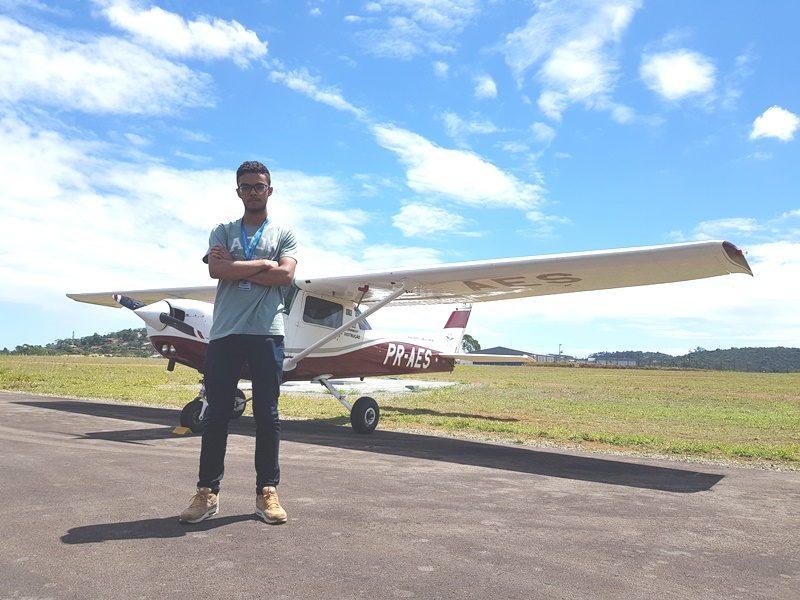 Piloto de São Paulo elogia o sistema de ensino do Aeroclube de Juiz de Fora